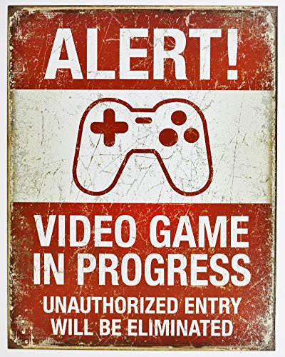 Video Game in Progress Tin Sign ...