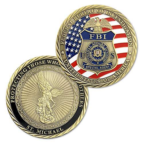 FBI St. Michael The Archangel Challenge Coin with Hero's Valor Prayer