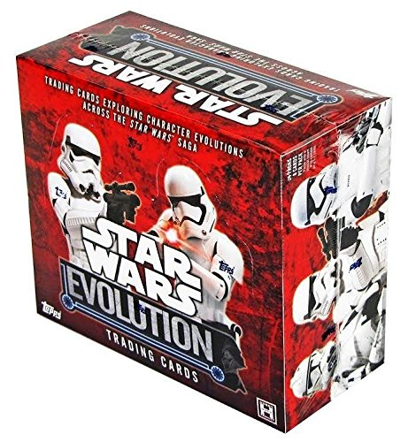 2016 Topps Star Wars EVOLUTION Collector's Trading Cards Hobby Box - 24 packs of 8 cards (Heroes Sketch Cards)
