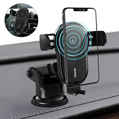 Wireless Car Charger,YUMA 15W Qi Fast Charging Auto-Clamping Charging Mount,Air Vent Phone Holder Compatible iPhone 11/11 Pro/11 Pro Max/Xs MAX/XS/XR/X/8/8+,Samsung S10/S10+/S9/S9+/S8/S8+,etc: Home Audio & Theater