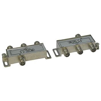 Divisor de Cable coaxial de 3 vías, Conector F Hembra para Cables satelitales, de