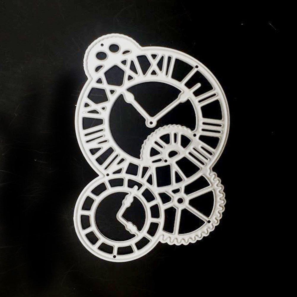 Kuizhiren1 dise/ño de relojes color negro Troqueles de corte