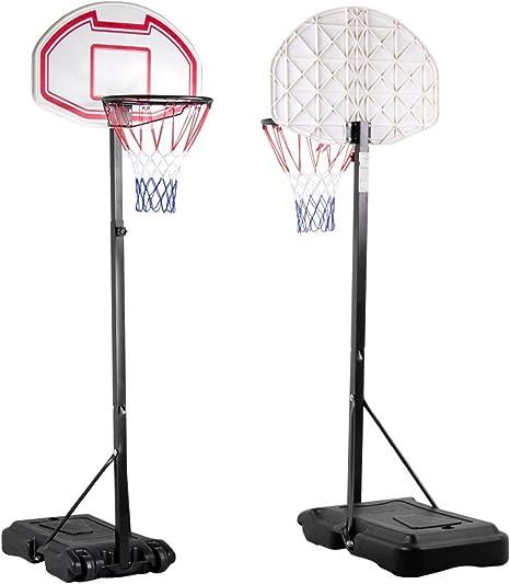 Canasta de baloncesto Outdoortips, tablero de baloncesto con pie ...