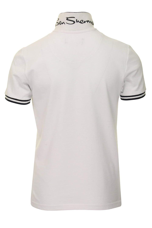 Ben Sherman Ni/ño Polo Blanco Brillante 7 A/ños hasta 15 A/ños