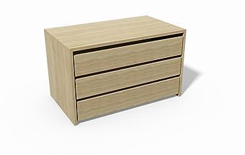 Cassettiera 3 cassetti per armadio Ginger - Colore Acero: Amazon.it ...