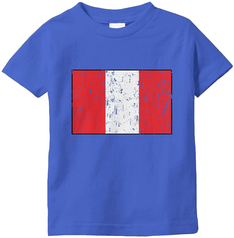 Amdesco Peru Flag Peruvian Infant T-Shirt