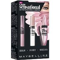 Maybelline New York Lash Sensational Routine-Set, mit Wimpernserum, Primer und Mascara
