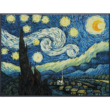 Starry Night, Art Poster by Vincent Van Gogh 28x22 Art Poster Print by Vincent van Gogh, 28x22 Art Poster Print by Vincent van Gogh, 28x22