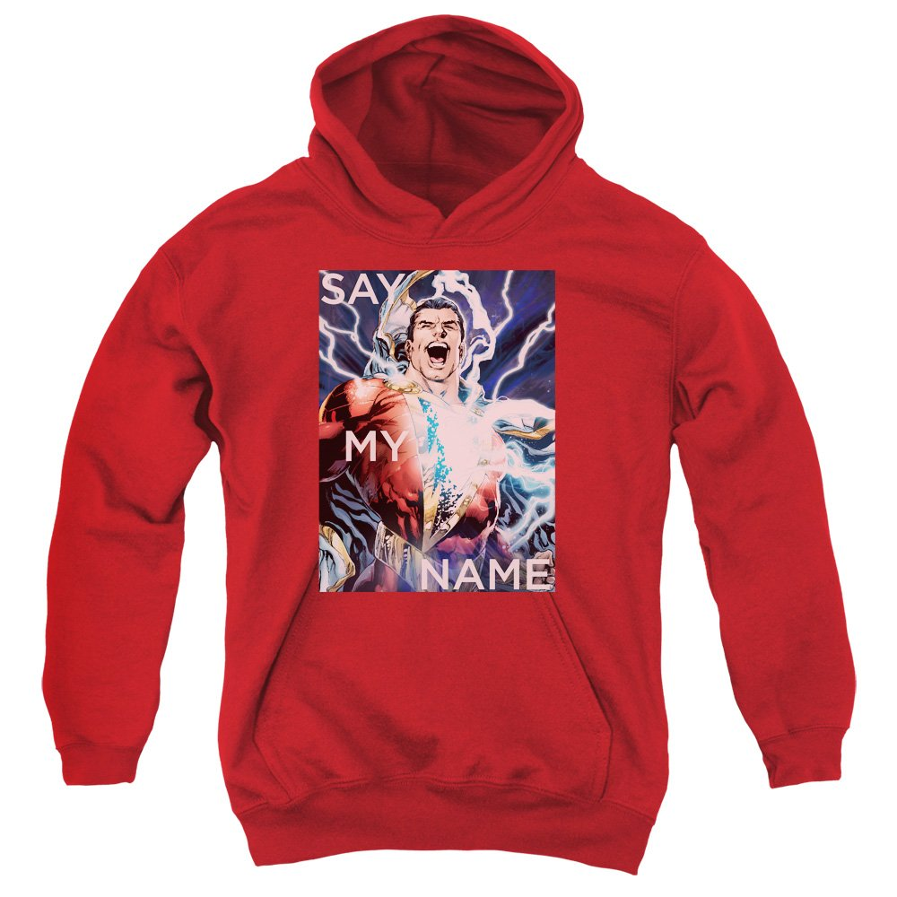 Trevco Jla-Say My Name Youth Pull-Over Hoodie44; Red