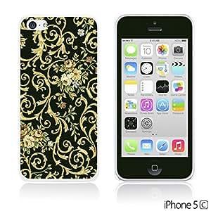 OnlineBestDigitalTM - Flower Pattern Hardback Case for Apple iPhone 5C - Small Yellow Flower