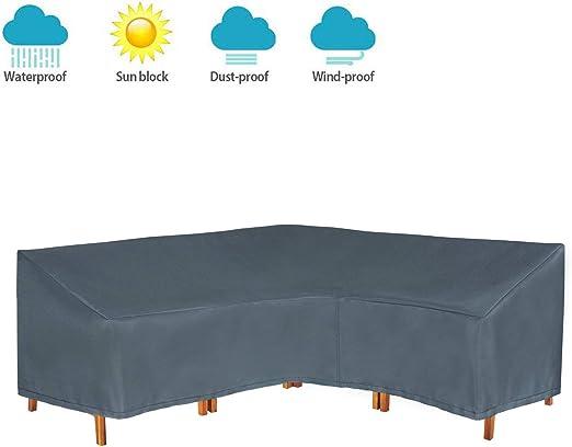 HENTEX - Funda Protectora para Banco de Esquina para Muebles de jardín, Forma de L, Color Gris: Amazon.es: Jardín