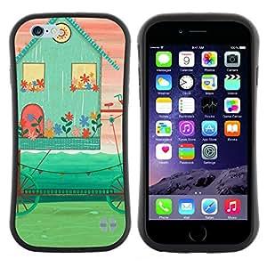 "Hypernova Slim Fit Dual Barniz Protector Caso Case Funda Para Apple (5.5 inches!!!) iPhone 6 Plus / 6S Plus ( 5.5 ) [Arte abstracto del rosa del trullo del inconformista""]"