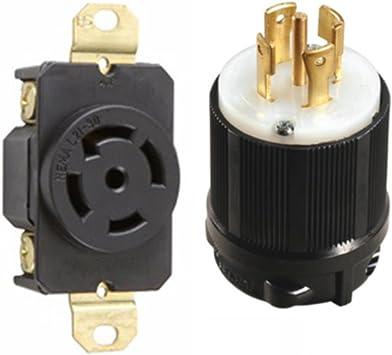 208v receptacle wiring diagram nema l21 30 plug and receptacle set rated for 30a  120 208v  5  nema l21 30 plug and receptacle set