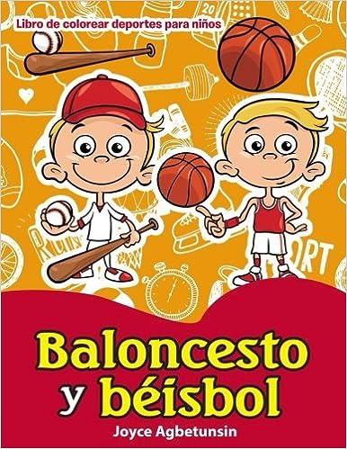 Baloncesto y beisbol Libro de colorear deportes para ninos ...