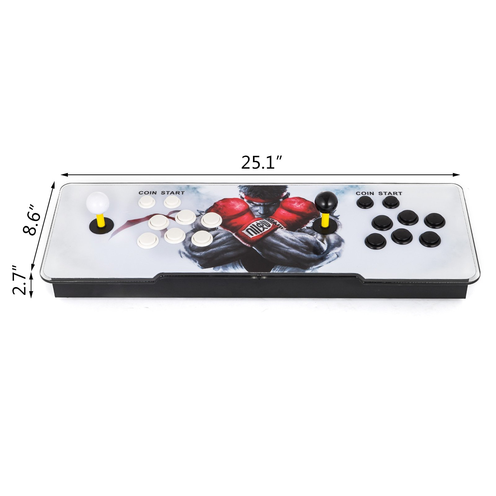 Happybuy Video Game Console, Arcade Machine 1500 Classic Games, 2 Players Pandora's box 5S multiplayer home Arcade Console 1500 Games All in 1 NON-JAMMA PCB Double Stick Newest Design Buttons Power HD by Happybuy (Image #3)