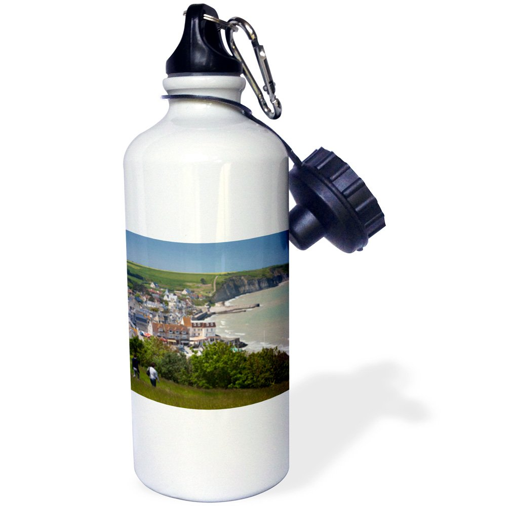 D-Day site Arromanches les Bains EU09 WBI4030 Walter Bibikow Sports Water Bottle White 3dRose wb/_136887/_1France 21 oz Normandy