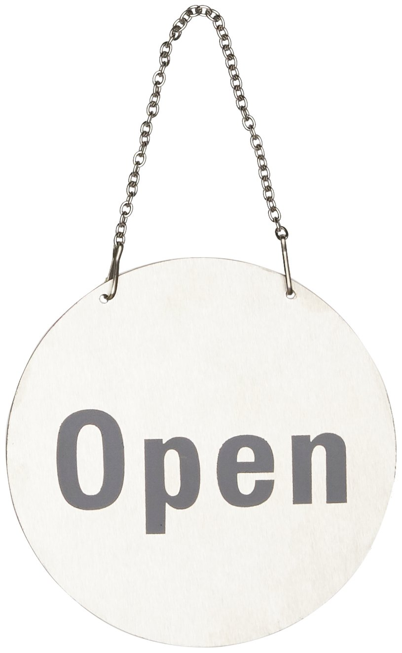 Stalwart U065 Stainless Steel Door Sign - Open and Closed