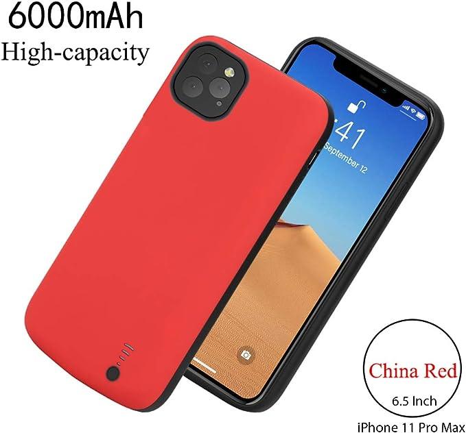 ,Noir MYGIRLE Coque Batterie pour iPhone 12 Pro Max 6500m Chargeur Portable Batterie Power Bank Coque Rechargeable pour Apple iPhone 12 Pro Max 6.7 Pouces