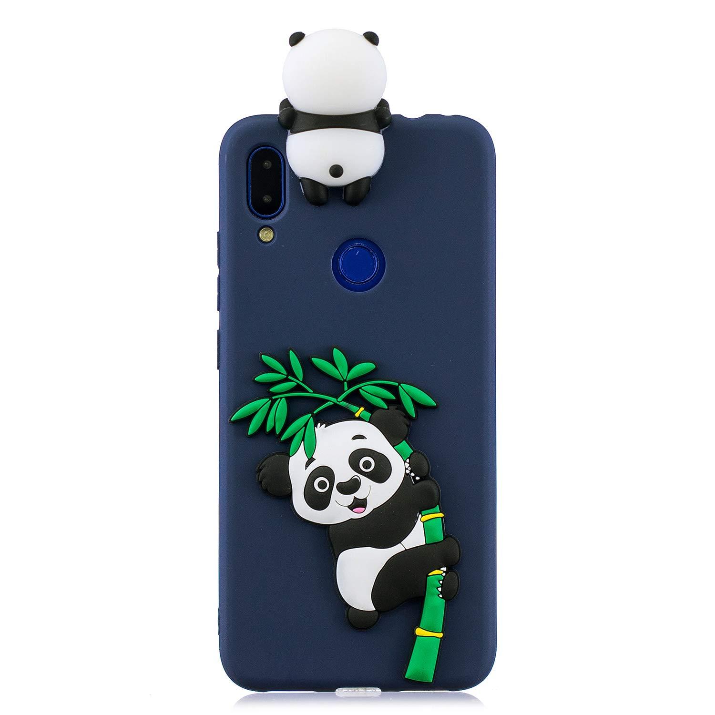 Note 7 Pro Dibujo 3D Unicornio Panda Divertidas TPU Kawaii Ultrafina Slim Case Antigolpes Caso Protecci/ón Flexible Cover Design Gracioso Panda Rosa HopMore Silicona Funda para Xiaomi Redmi Note 7