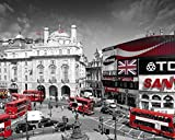 Laminated London-Piccadilly Circus Mini Poster 20 x 16in