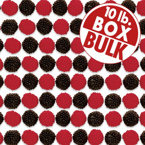Jelly Belly Raspberries and Blackberries - 10 Pounds of Loose Bulk Candy - Genuine, Official, Straight from the Source