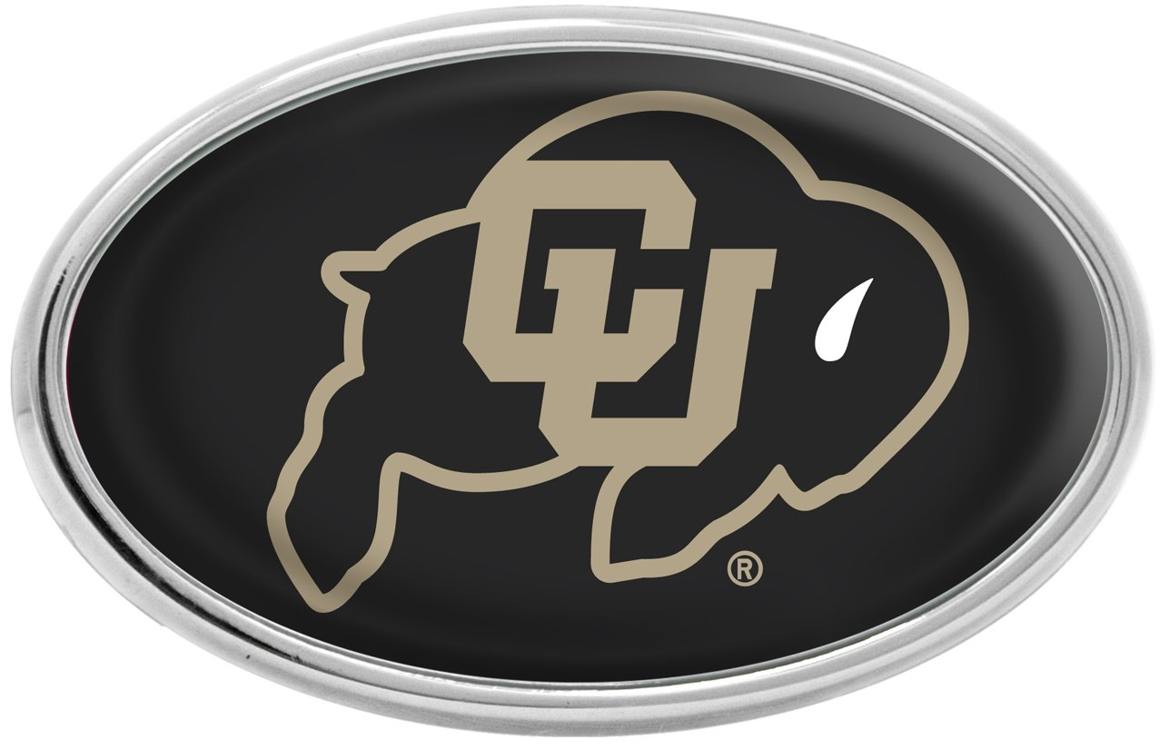 University of S04542 Chrome Metal Domed Emblem WinCraft Colorado