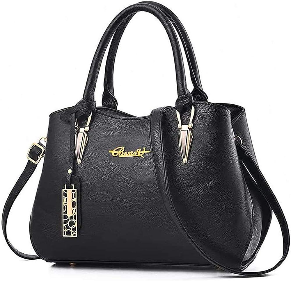 Handbags for Women Large Designer Ladies PU Leather Top Handle Satchel Shoulder Tote Bags with Multiple Internal Pockets