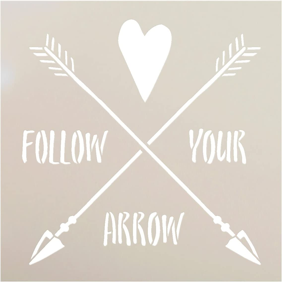 ARROW STENCIL The Artful Stencil WEDDING SIGN STENCIL