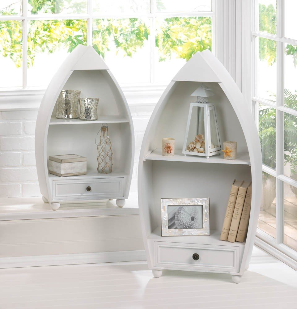 Smart Living Company Rowboat Curio Cabinets