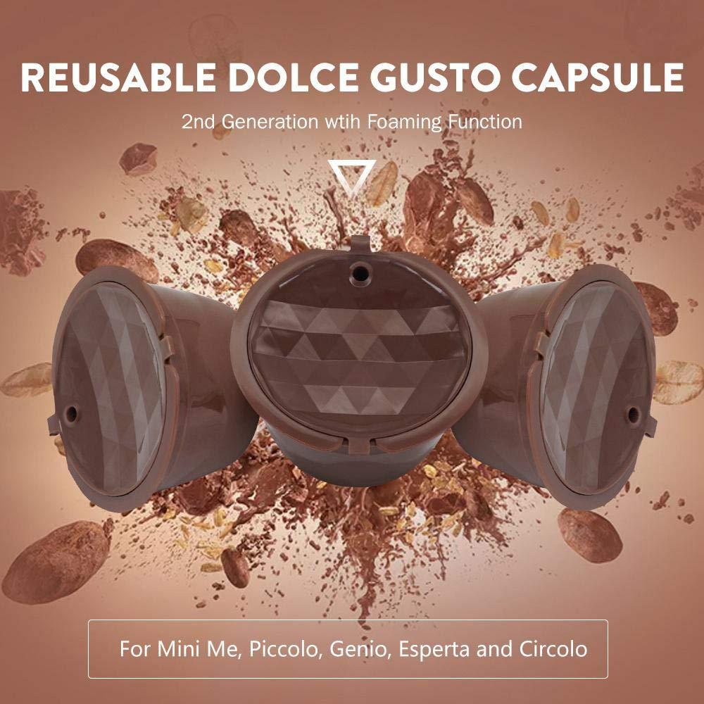 Umiwe 3Pcs Cápsulas de Café Reutilizables Tapas de Acero ...