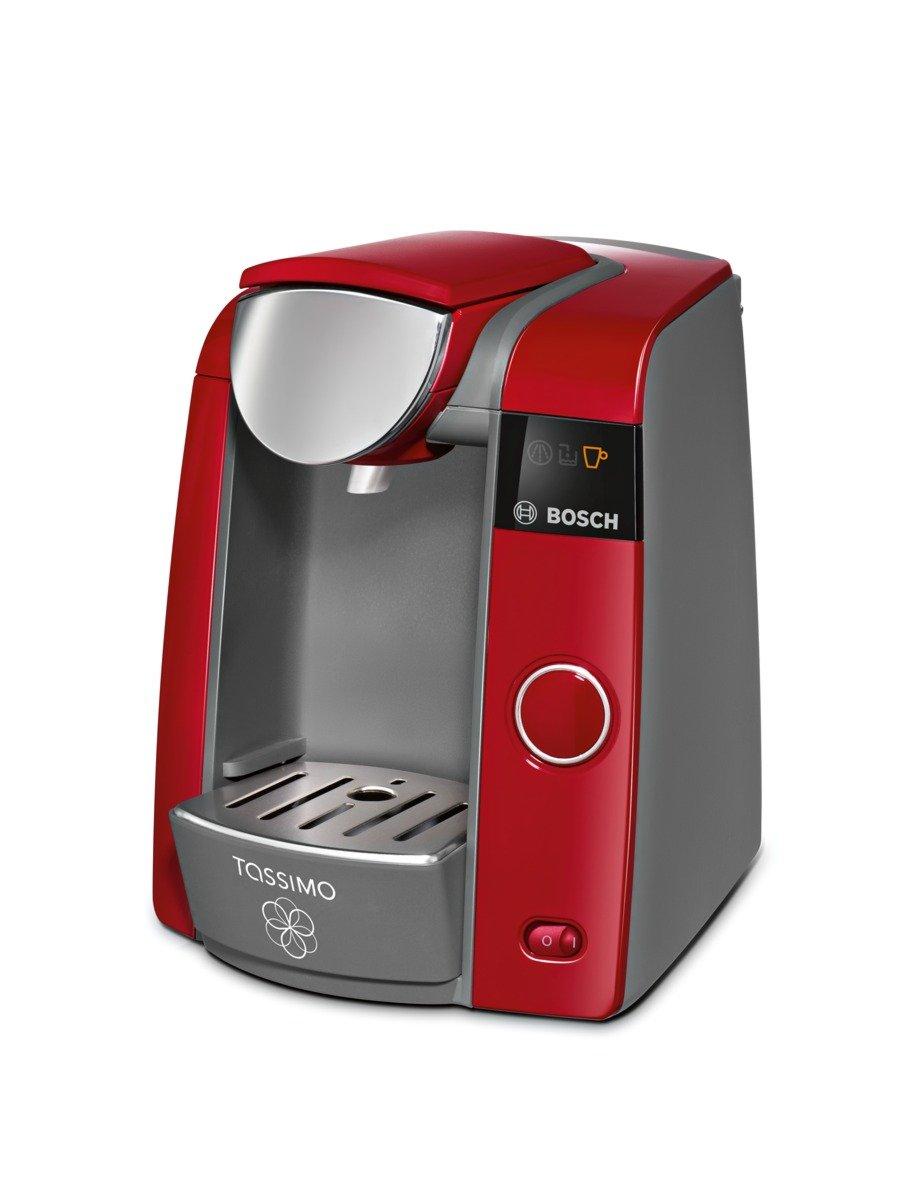 Bosch TAS4303 Tassimo - Cafetera monodosis automática, color rojo y gris