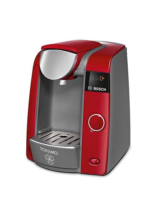 Bosch TAS4303 Tassimo - Cafetera monodosis automática, color rojo ...