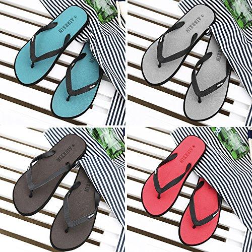 Faites glisser et déposez la parole masculine estivale des porter l'usure extérieure antidérapante cool et branché clip chaussons chaussures de plage occasionnels 45 marron