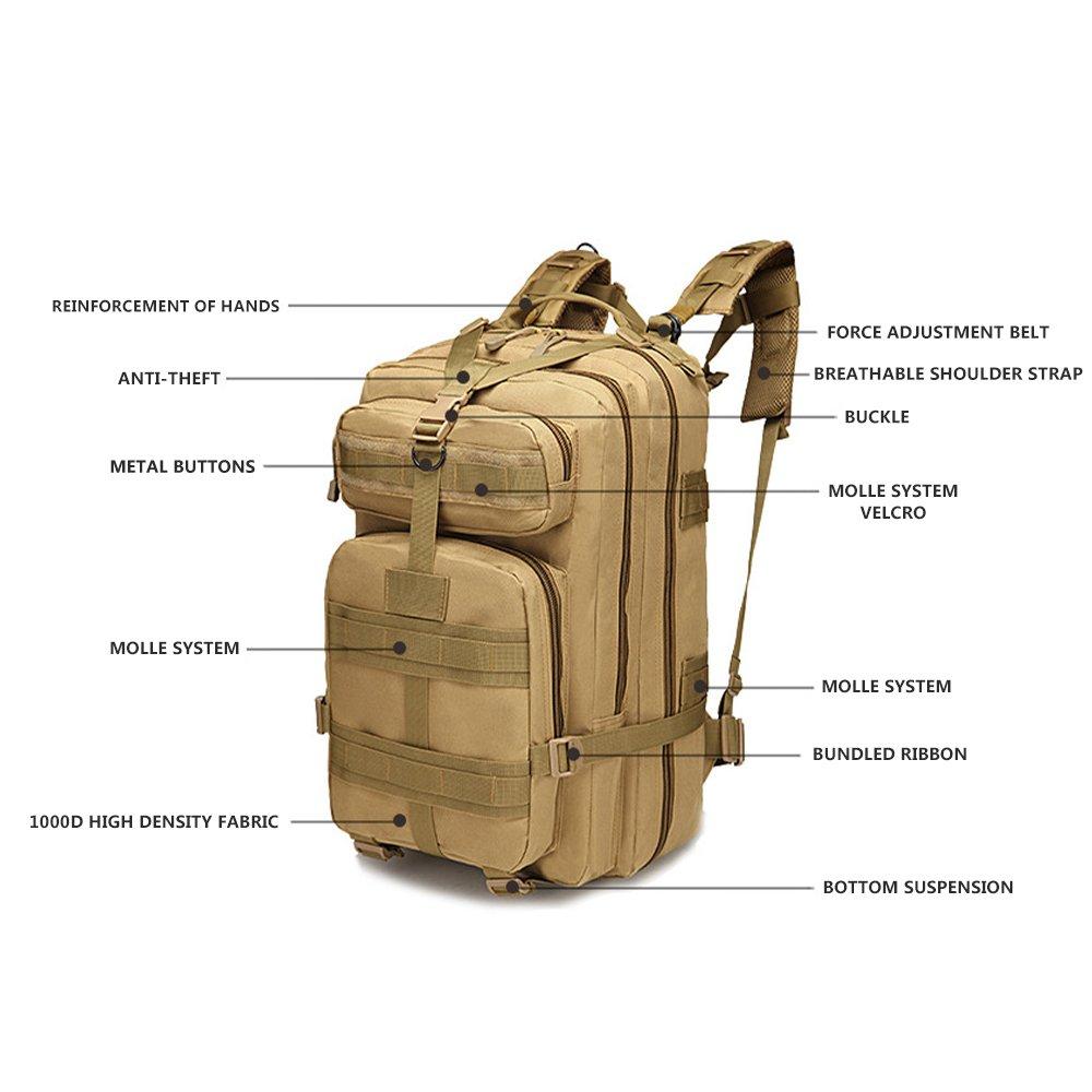Minetom 30L Mimetico Multifunzione Militare Acqua Repellent Zaino Colori Multipli Sacchetto Campeggio Camminata Alpinismo