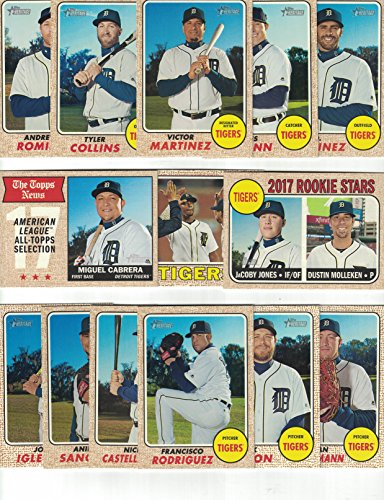 (Detroit Tigers / Complete 2017 Topps Heritage Baseball Team Set. FREE 2016 TOPPS HERITAGE TIGERS TEAM SET WITH PURCHASE!)