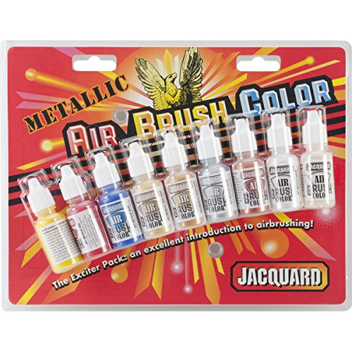 Jacquard Products Metallic Airbrush Exciter Pack - 8 colors