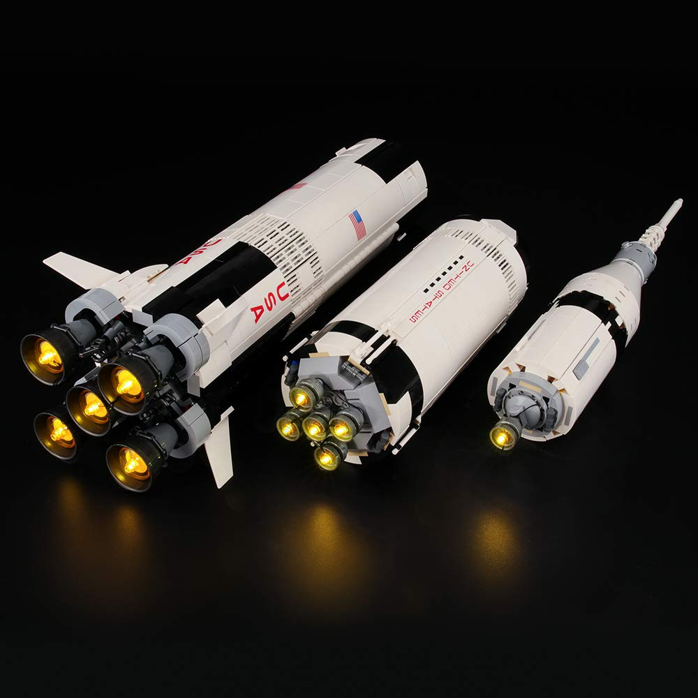 LIGHTAILING Light Set for (Ideas NASA Apollo Saturn V) Building Blocks Model - Led Light kit Compatible with Lego 21309(NOT Included The Model)