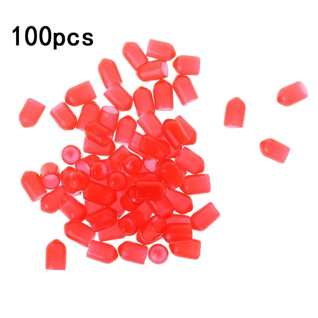Ranuw 100pcs cappuccio protettivo antiruggine RCA silicone copertura antipolvere Lotus casse audio AV segnale presa giacca