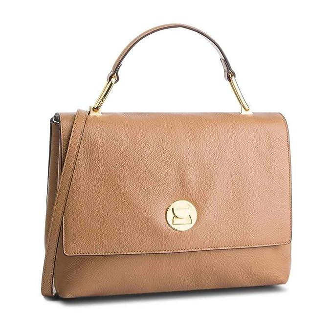 80052c81a036 Coccinelle Borsa LIYA Donna Pelle Cammello/bianco - E1DD0180101437:  Amazon.it: Abbigliamento