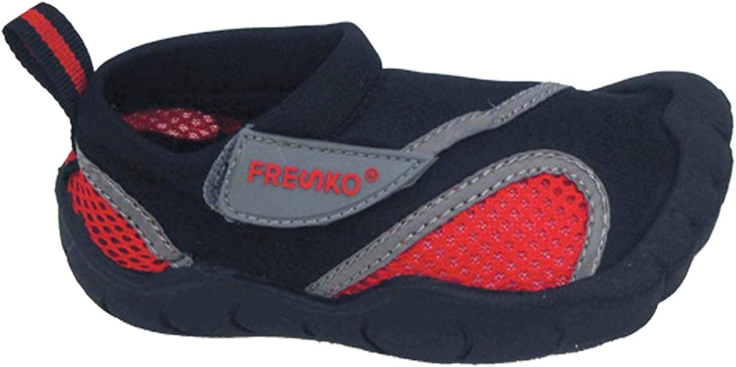 Fresko Toddler Water Shoes for Boys and Girls, T2110, Black/Red, 6 M US Toddler