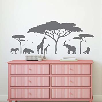BATTOO Safari Wall Decal- Jungle Wall Decal- Safari Nursery Decor ...