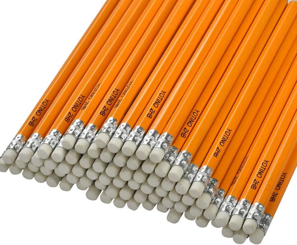 HB matite, YOTINO Confezione da 100 pezzi con cornice in legno pre-ribaltata