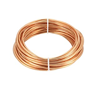 """uxcell Refrigeration Tubing, 1/8"""" OD x 5/64"""" ID x 16 Ft Soft Coil Copper Tubing"""