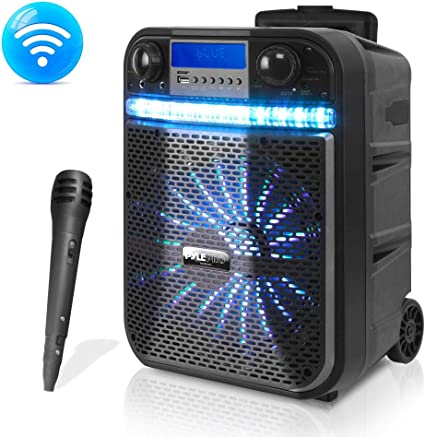 BLUETOOTH MINI SPEAKER LED flashing wireless rechargeable portable sound /& music