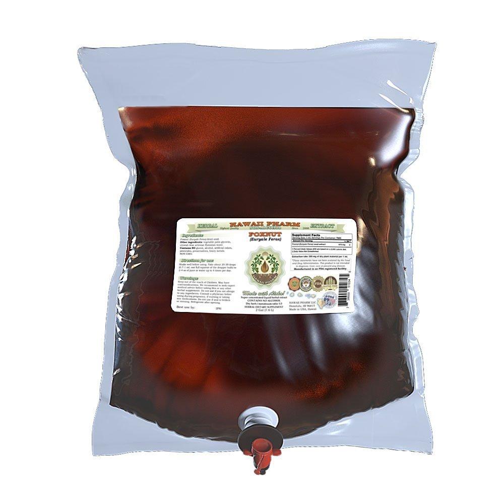 Foxnut (Euryale Ferox) Glycerite, Organic Seeds Alcohol-Free Liquid Extract, Qian Shi, Glycerite Herbal Supplement 2 Gal