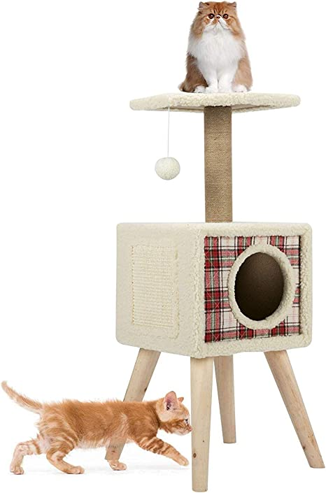 CO-Z - Árbol rascador para Gatos, con Pelota de Juego, Estable, 92 ...