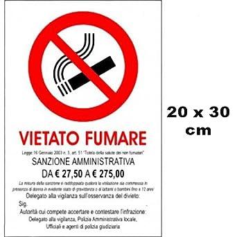 Cartel de señalización - Prohibido fumar - 30 cm x 20 cm ...