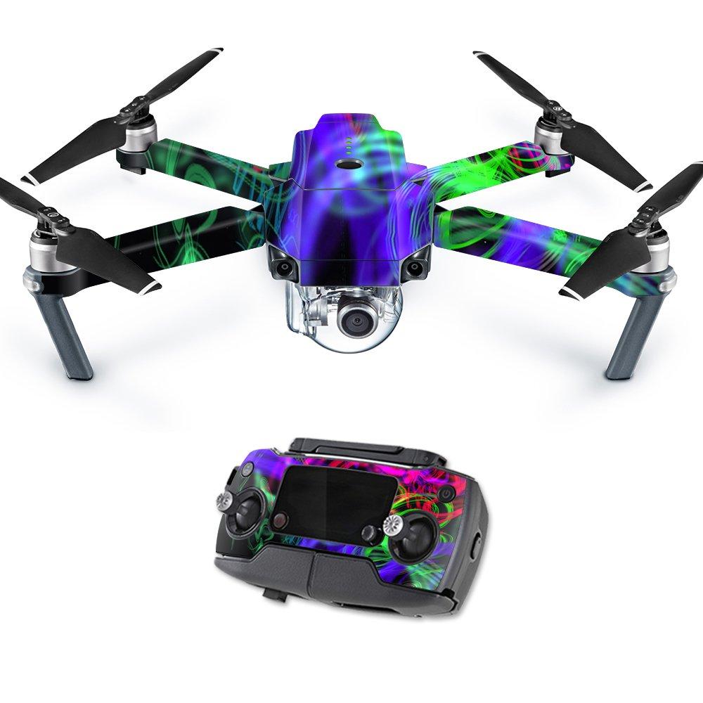 MightySkins スキンデカールラップ DJIステッカー保護カバー 100種類のカラーオプションに対応, DJI Max Coverage, DJMAVAI-Peaceful Explosion B06X9H9H48 DJI Mavic Pro Quadcopter Drone|Neon Splatter Neon Splatter DJI Mavic Pro Quadcopter Drone