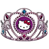 Adorable Hello Kitty Rainbow Party Electroplated Birthday Tiara Party Wearable Accessory Favour (1 Piece), Pink/Purple, 3 1/2