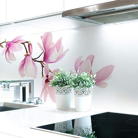 Küchenrückwand Magnolien Zweig Premium Hart Pvc 0 4 Mm Selbstklebend Direkt Auf Die Fliesen Größe 280 X 60 Cm Küche Haushalt